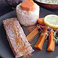 Saumon tandoori à l'africaine