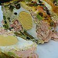 Terrine de saumon aux petits-pois et haricots verts