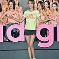 Jolin attends adidas' adigirls beauty force training camp press conference