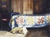 Dog Nap picture by artist M Stewart S1304-160x160
