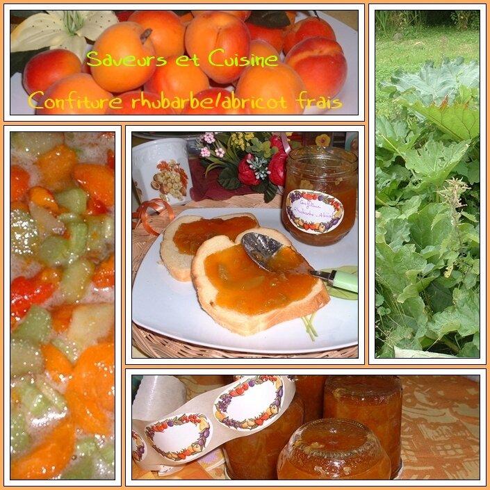 Confiture Rhubarbe/ abricot