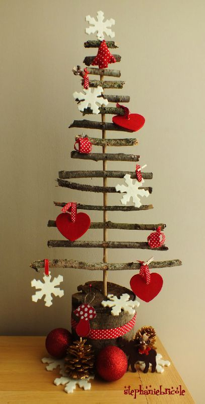 Faire un sapin de no l soi m me 3 un sapin magnets en - Creation decoration de noel ...
