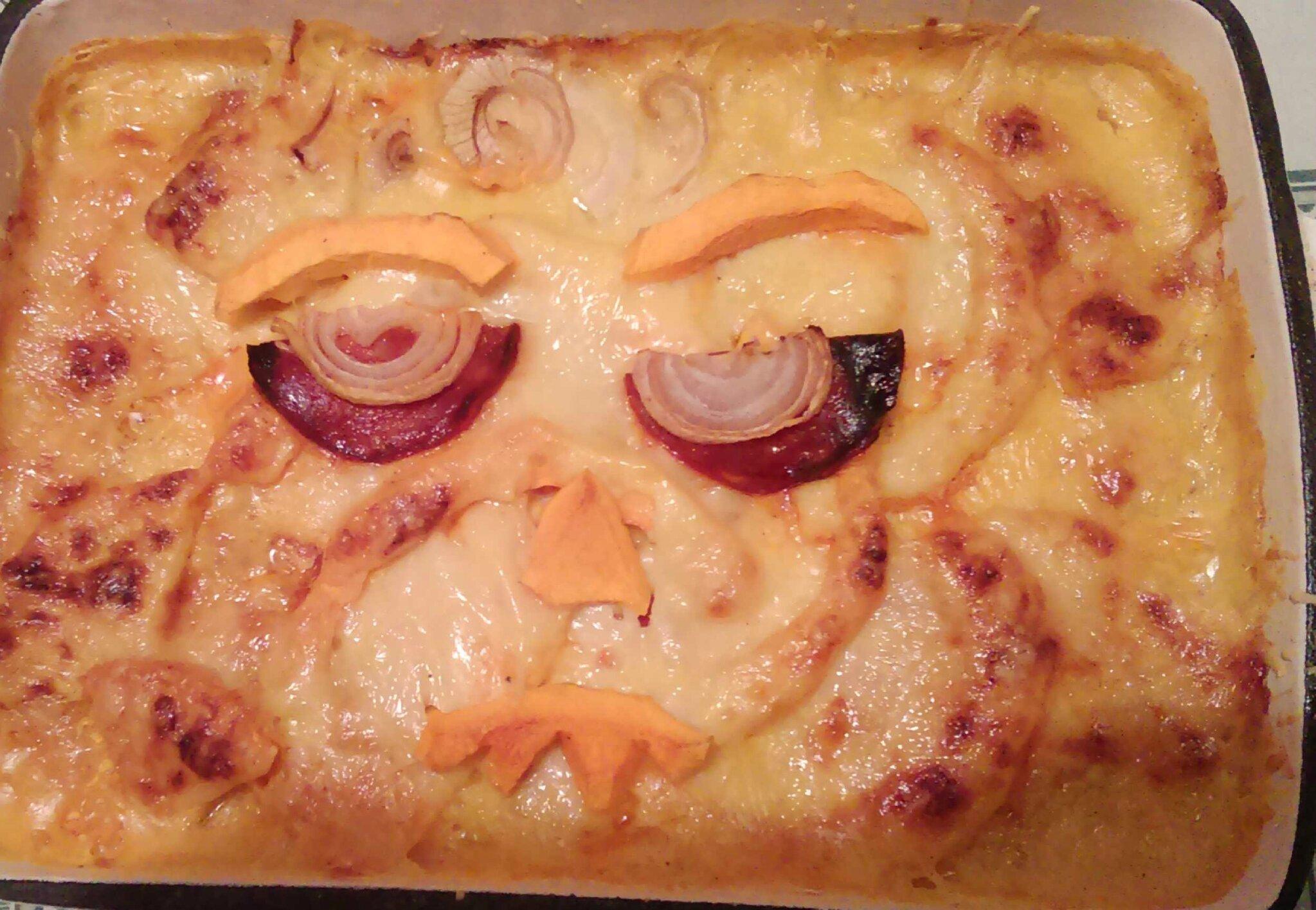Gratin Butternut d'Halloween