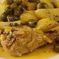 Tajine de poulet aux olives et au citron confit, un classique parmi les classiques