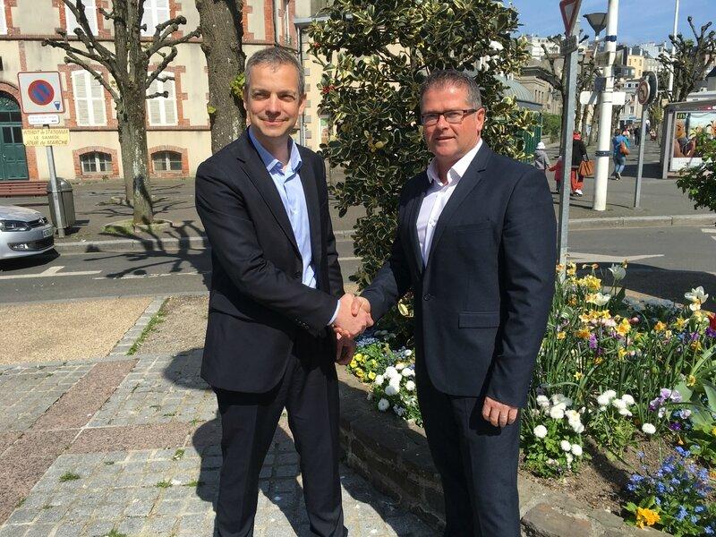 Thomas Collardeau Bertrand Sorre accord désistement Macron En marche Granville législative Manche député avril 2017