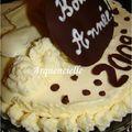 Gâteau Bonne Année entremet au chocolat blanc détail mousse
