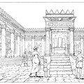 Cour intérieure du temple d'Echmoûn. Carthage punique