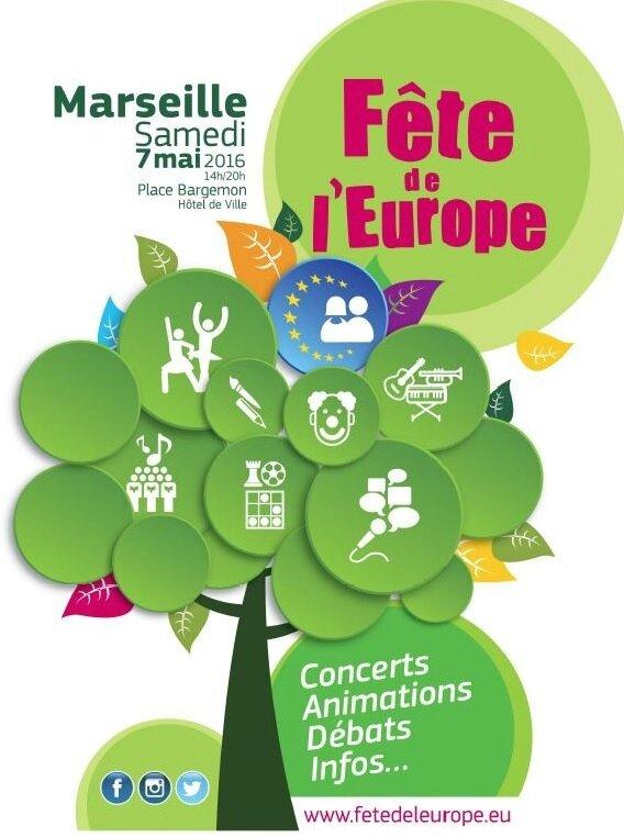 Participation fête de l'Europe - 7 Mai 2016 à Marseille