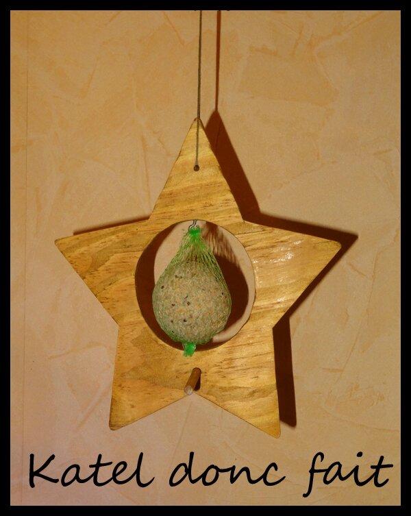 Support boule oiseau - étoile