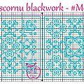 Grille biscornu blackwork #m09