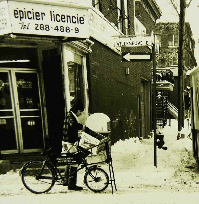 1976 épicerie de coin Villeneuve et DeBullion Phil DuBerger copie