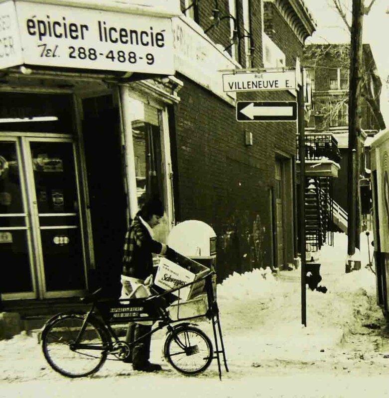 1976 épicerie de coin Villeneuve et DeBullion Phil DuBerger copie