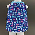 Nouveau : serviette de table enfant couronnes bleue cou élastiqué