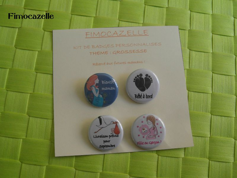 kit badges grossesse