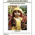 Quarante neuvieme série banana split/nous on croit au père noël tenues pour poupées de 25-27cm boneka ante littlefee yosd bjd