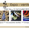 Vendredi 2, samedi 3 et dimanche 4 juillet 2010* expo vente de créateurs à paris