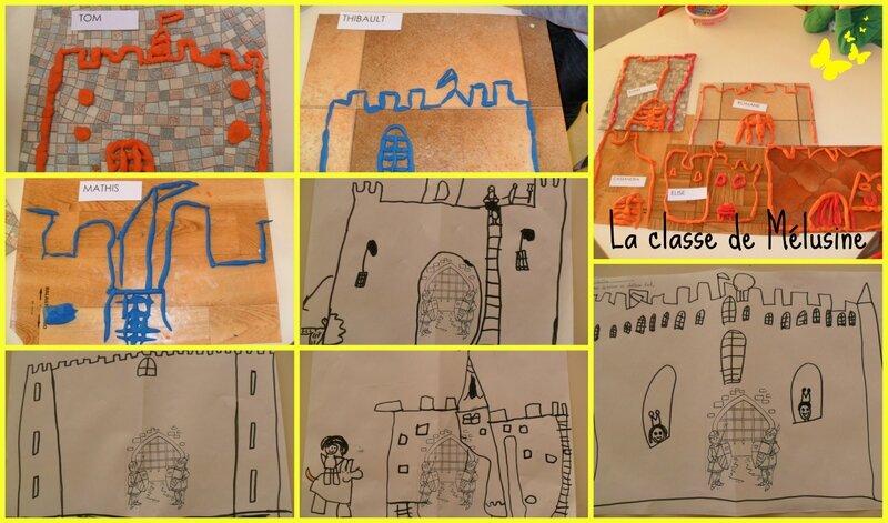 châteaux divers Collage