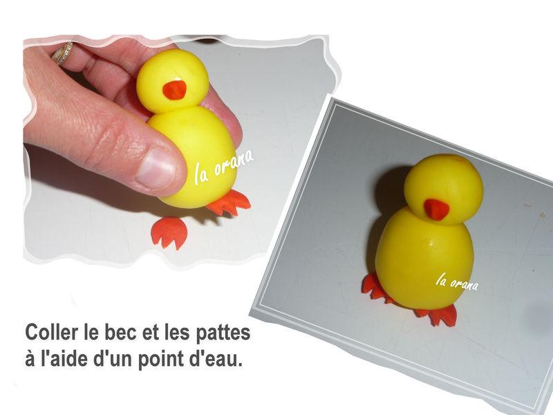 Comment modeler un poussin mes petits g teaux rigolos for Prix d une poule rousse