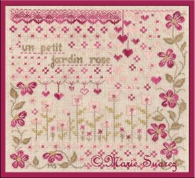 un petit jardin rose