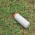 Tear gas canister in the school