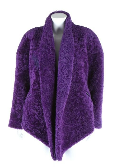 A Claude Montana for Ideal-Cuir purple sheepskin jacket, 1980s.