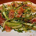 Salade d'asperges vertes crues & dukka