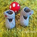 Petits chaussons naissance: DIY ( Do It Yourself!)