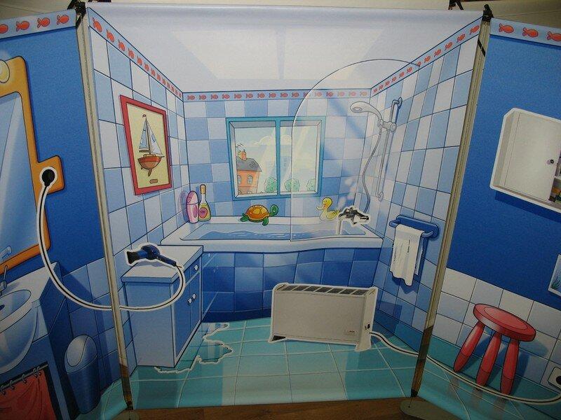 Visite de la maison g ante alpea for Salon de la salle de bain