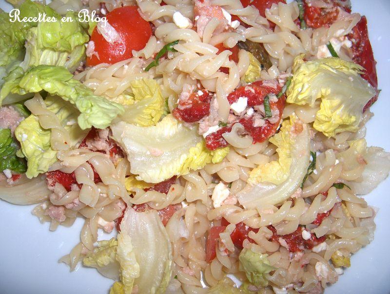 salade de pates feta thon basilic recettes en