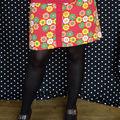 jupe fleurie rouge