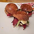 Mini burgers sophistiqués pour petite saint valentin