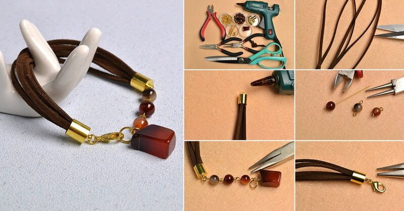1200-Pandahall-Original-Project--How-to-Make-Simple-Agate-Beaded-Suede-Cord-Bracelet