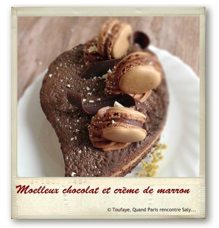 Moelleux chocolat et crème de marron