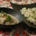 Lieu noir a l'indienne, riz au cumin & fenouil