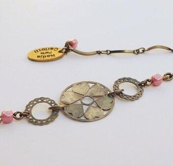 Bracelet estampe rose - Nadja CARLOTTI