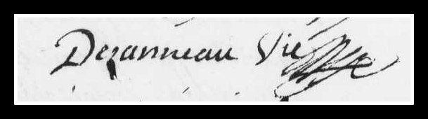 signature curé Dezanneau