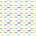 mini moustaches multi fond blanc