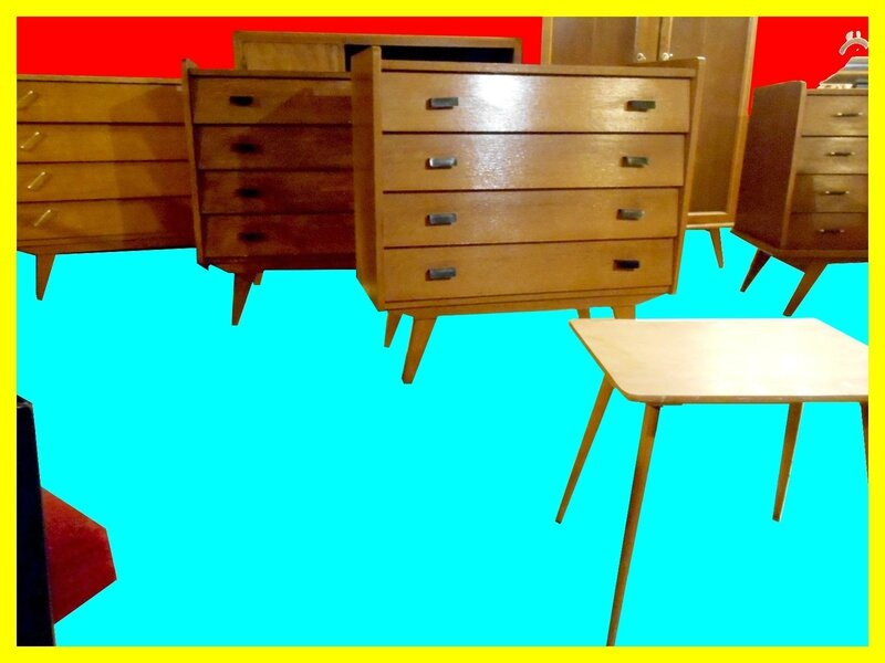 meubles vintage annees 50 meubles et d coration vintage design scandinave. Black Bedroom Furniture Sets. Home Design Ideas
