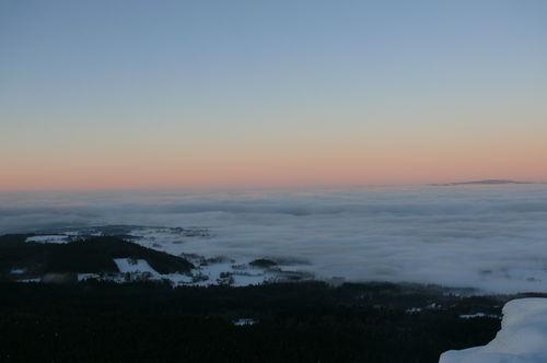 2008 12 24 Magnifique mer de nuages vu depuis le Pic du Lizieux