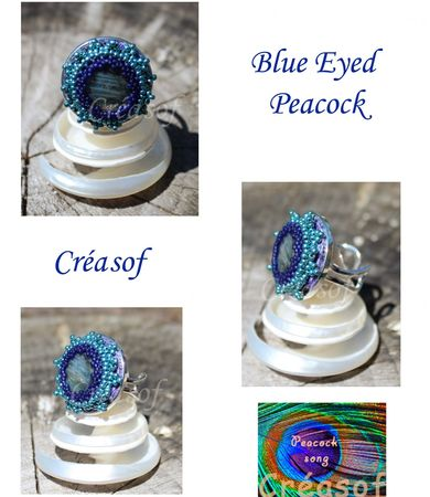 bague blue eyed peacock bis