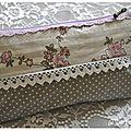 Pochette zippée en coton enduit