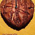 Coeur cacao mascarpone poires