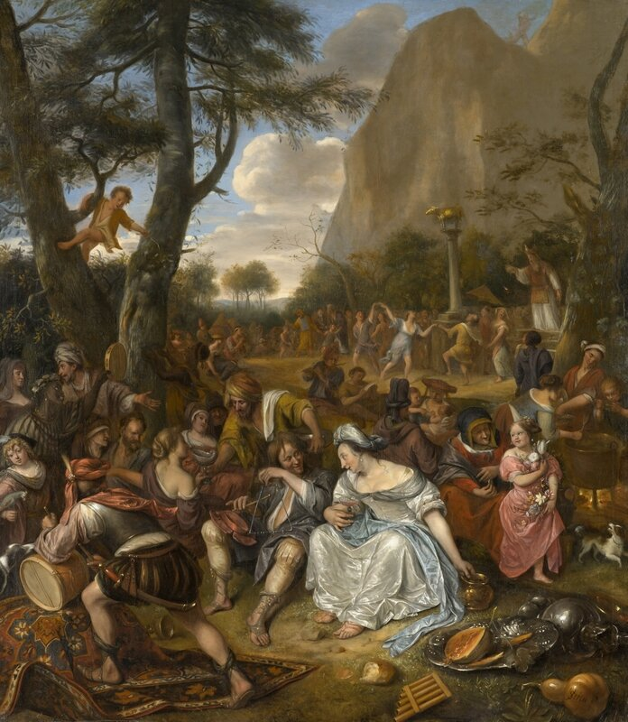Jan Steen, Aanbidding van het gouden kalf, North Carolina Museum of Art, Raleigh