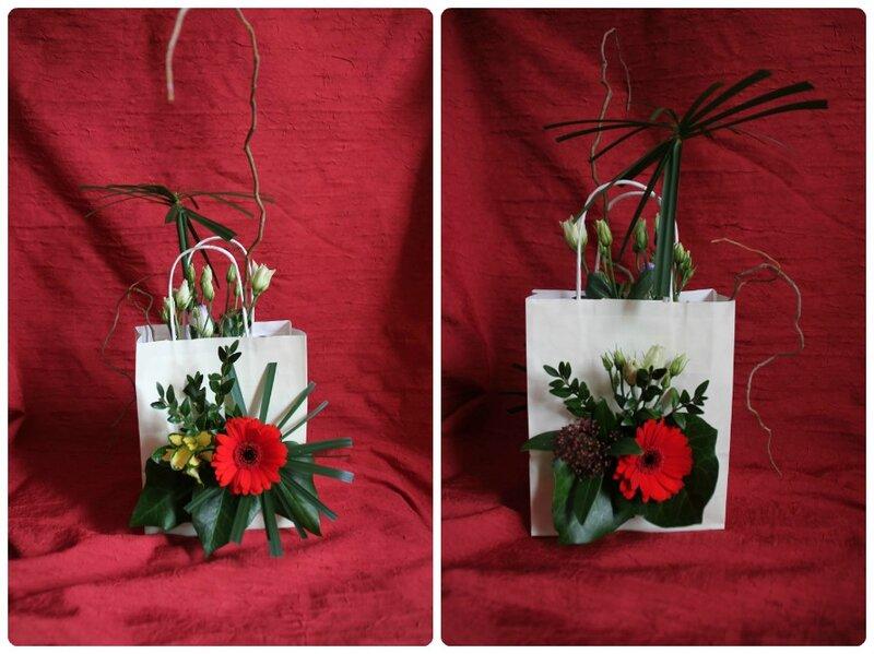 Art floral 2ème cours Bouquet dans sac