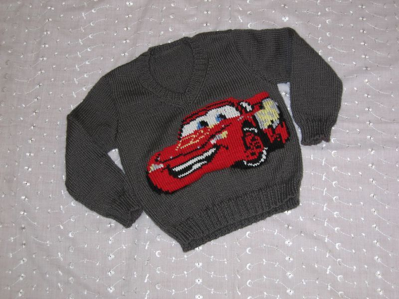 modele tricot pull cars