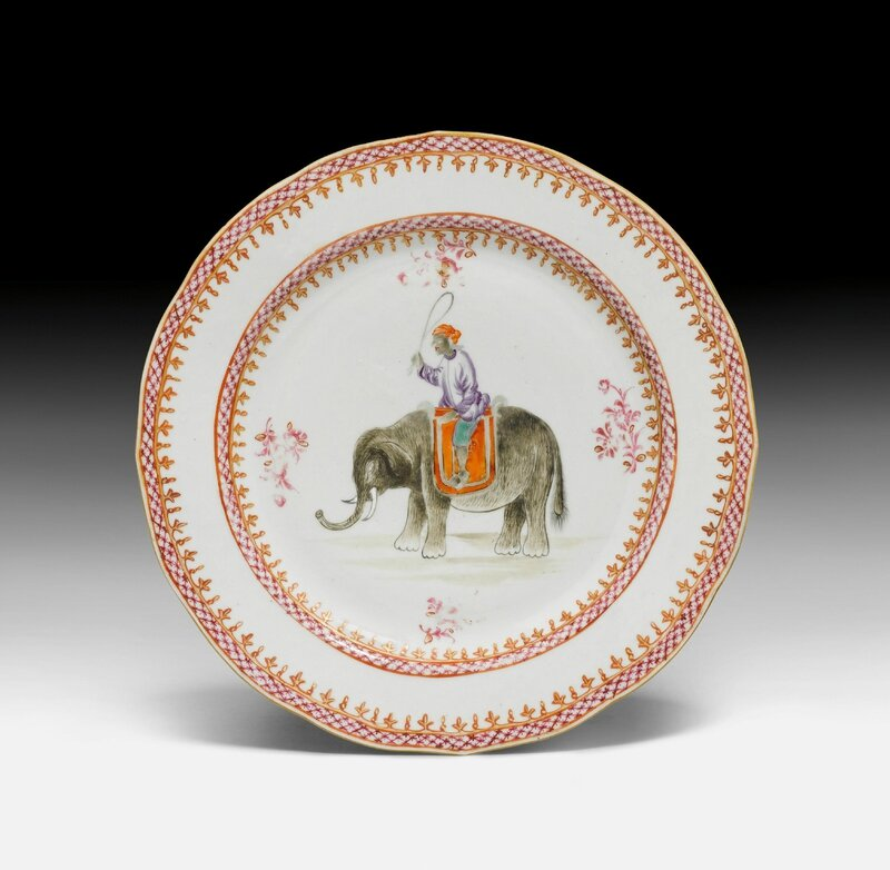 A famille rose plate painted with figurative scene, China, 18th century
