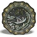A mother-of-pearl inlaid lacquer 'prunus' tray, ming dynasty, 15th century