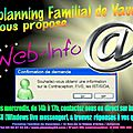 Pas de Web info mercredi 18/07/2012 !!!