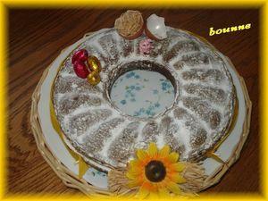 mon gâteau choco pour pâques