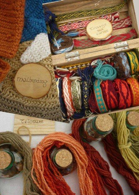 stand textile fête de la forge